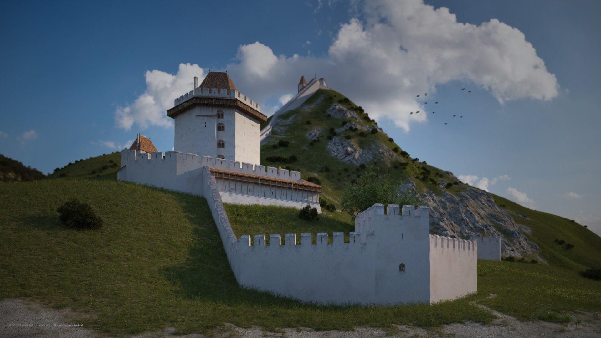 Visegrádi vár a 13. században